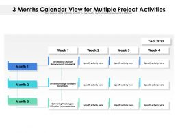 3 Months Calendar View For Multiple Project Activities
