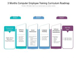 3 Months Computer Employee Training Curriculum Roadmap