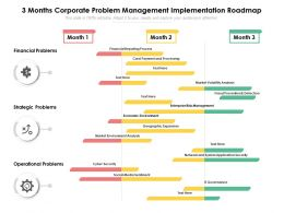 3 Months Corporate Problem Management Implementation Roadmap