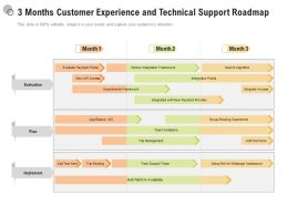 3 Months Customer Experience And Technical Support Roadmap
