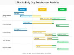3 Months Early Drug Development Roadmap