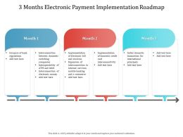 3 Months Electronic Payment Implementation Roadmap