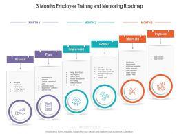 3 Months Employee Training And Mentoring Roadmap