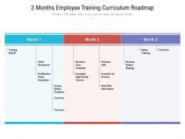 3 Months Employee Training Curriculum Roadmap