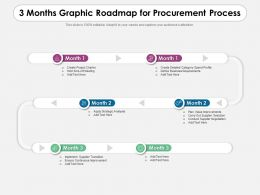 3 Months Graphic Roadmap For Procurement Process
