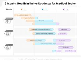 3 Months Health Initiative Roadmap For Medical Sector