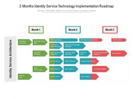 3 Months Identity Service Technology Implementation Roadmap