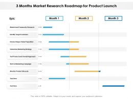 3 Months Market Research Roadmap For Product Launch