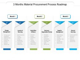 3 Months Material Procurement Process Roadmap