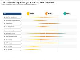 3 Months Mentoring Training Roadmap For Sales Generation