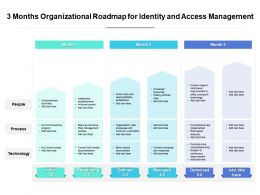 3 Months Organizational Roadmap For Identity And Access Management