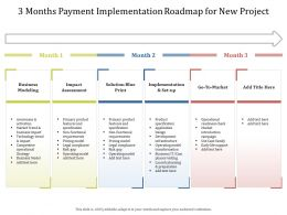 3 Months Payment Implementation Roadmap For New Project