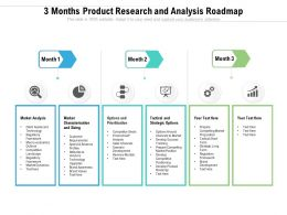 3 Months Product Research And Analysis Roadmap