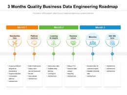3 Months Quality Business Data Engineering Roadmap