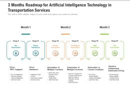 3 Months Roadmap For Artificial Intelligence Technology In Transportation Services