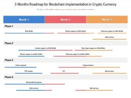 3 Months Roadmap For Blockchain Implementation In Crypto Currency