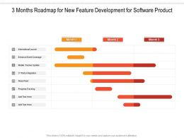 3 Months Roadmap For New Feature Development For Software Product