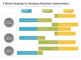 3 Months Roadmap For Workplace Blockchain Implementation