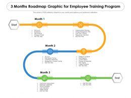 3 Months Roadmap Graphic For Employee Training Program