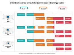 3 Months Roadmap Template For Ecommerce Software Application