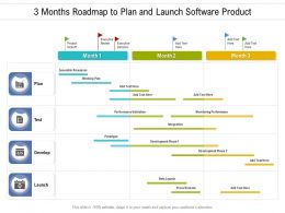3 Months Roadmap To Plan And Launch Software Product