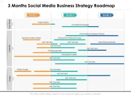 3 Months Social Media Business Strategy Roadmap
