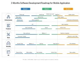 3 Months Software Development Roadmap For Mobile Application