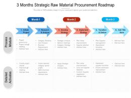 3 Months Strategic Raw Material Procurement Roadmap