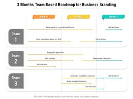 3 Months Team Based Roadmap For Business Branding