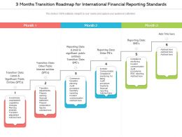 3 Months Transition Roadmap For International Financial Reporting Standards