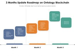 3 Months Update Roadmap On Ontology Blockchain