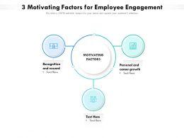 3 Motivating Factors For Employee Engagement