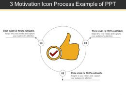 3 Motivation Icon Process Example Of Ppt