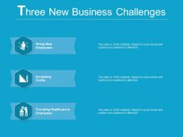 3 New Business Challenges