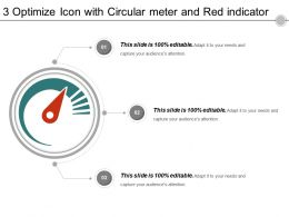 3 Optimize Icon With Circular Meter And Red Indicator