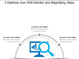 3 Optimize Icon With Monitor And Magnifying Glass