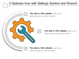 3 Optimize Icon With Settings Symbol And Wrench