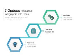 3 Options Hexagonal Infographic With Icons
