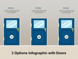 3 Options Infographic With Doors