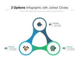 3 Options Infographic With Joined Circles