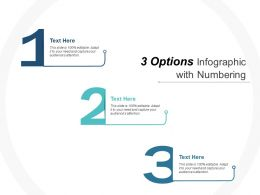 3 Options Infographic With Numbering