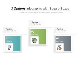 3 Options Infographic With Square Boxes
