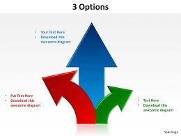3_options_with_arrows_upwards_slides_presentation_diagrams_templates_powerpoint_info_graphics_Slide01