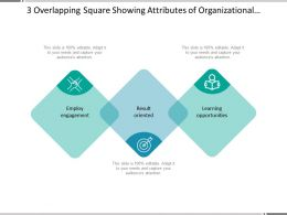 3 Overlapping Square Showing Attributes Of Organizational Culture