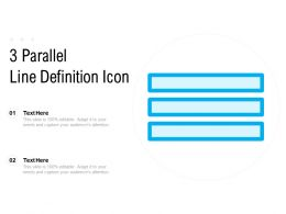 3 Parallel Line Definition Icon