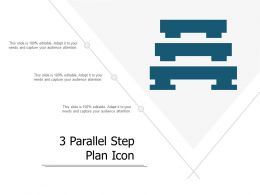 3 Parallel Step Plan Icon