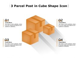 3 Parcel Post In Cube Shape Icon