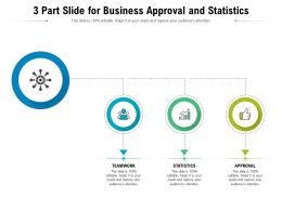 3 Part Slide For Business Approval And Statistics