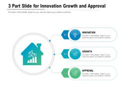 3 Part Slide For Innovation Growth And Approval