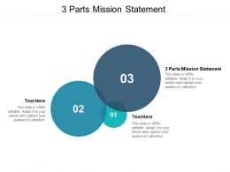3 Parts Mission Statement Ppt Powerpoint Presentation Visual Aids Example File Cpb